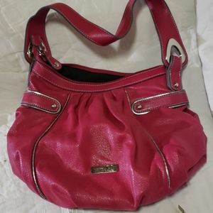 Soft leather pink bag